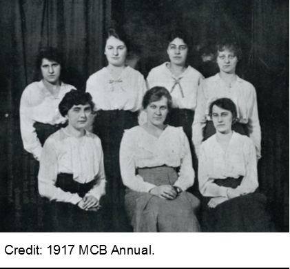 Photo from 1917 MCB Annual