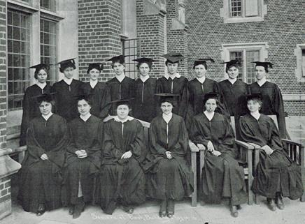 Martha Cook's first graduating class - 1916